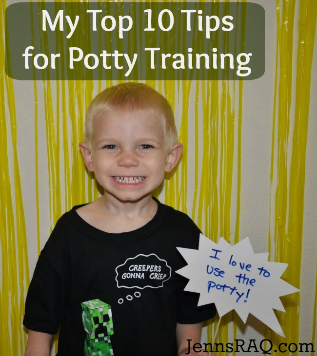 Pin This - My Top 10 Tips for Potty Training from JennsRAQ.com and Pampers Easy Ups #PampersEasyUps