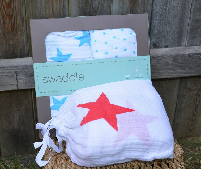 Aden and Anais Swaddle Blankets Patriotic Stars