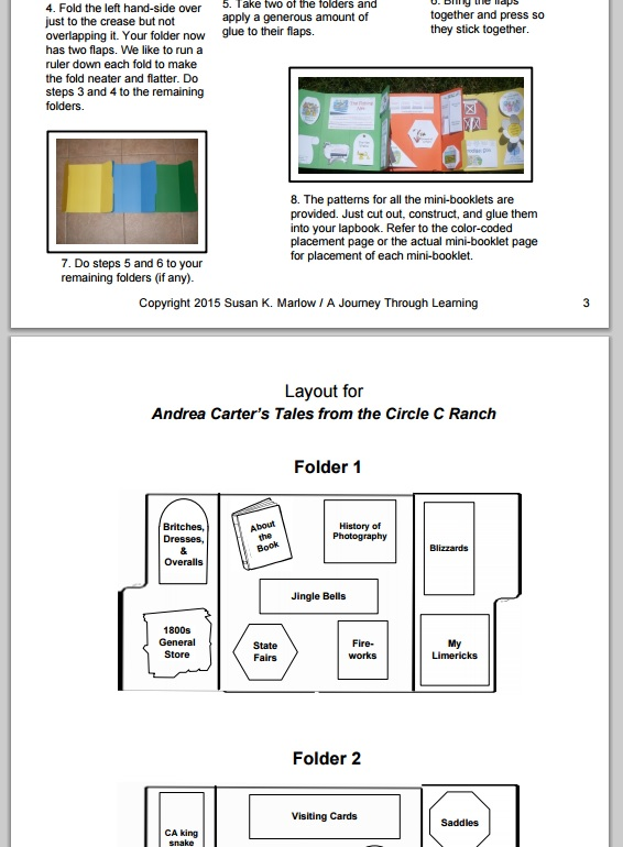 Andrea Carter's Tales from the Circle C Ranch Learning Lapbook