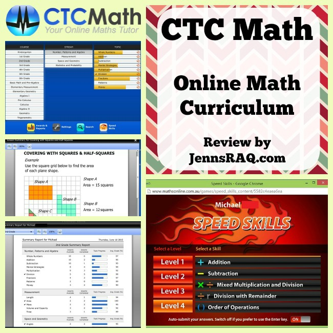 CTC Math Online Math Curriculum is Great for Homeschoolers or as a supplement for anyone - Review from JennsRAQ.com
