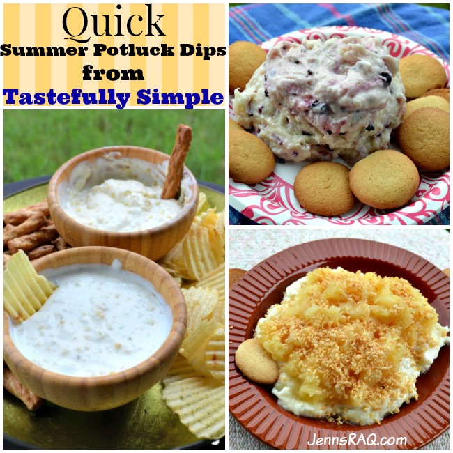 Quick Summer Potluck Dips from Tastefully Simple - Reviewed by JennsRAQ.com