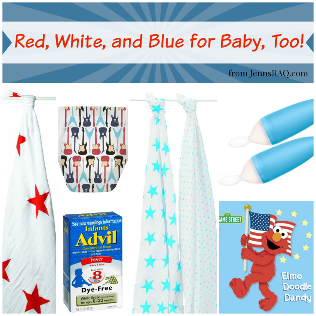Red White and Blue for Baby Too from JennsRAQ - A Fourth of July Round up for baby