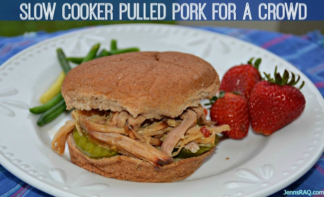 Simple Slow Cooker Pulled Pork for a Crowd with just 5 Ingredients - JennsRAQ.com