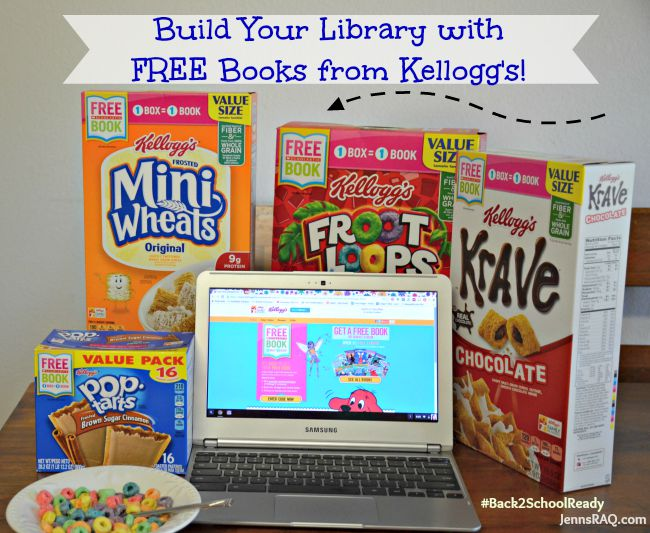 Build Your Library with FREE Books from Kellogg's #Back2SchoolReady #Ad from JennsRAQ.com