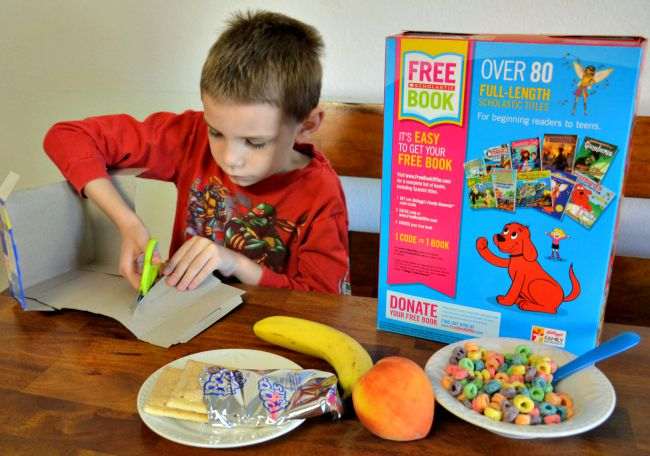 Cutting out the codes are easy - Build Your Library with FREE Books from Kellogg's #Back2SchoolReady #Ad from JennsRAQ.com Check Specially Marked Packages
