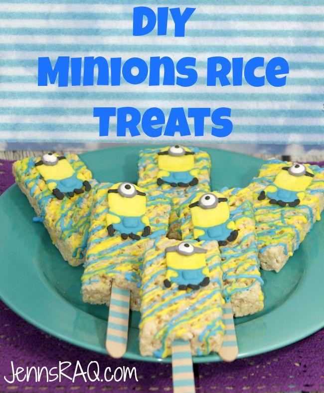 DIY Minion Rice Treats Icing Tutorial Included on JennsRAQ.com
