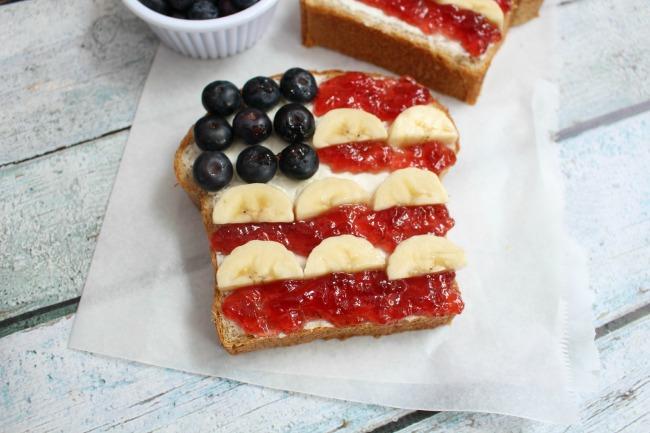 Enjoy this Patriotic Toast and Homemade Honey Wheat Bread Recipe from JennsRAQ.com