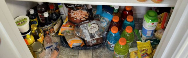Heavy things down low 5 Pantry Organization Tips from JennsRAQ.com #AHugeSale #CollectiveBias #Ad