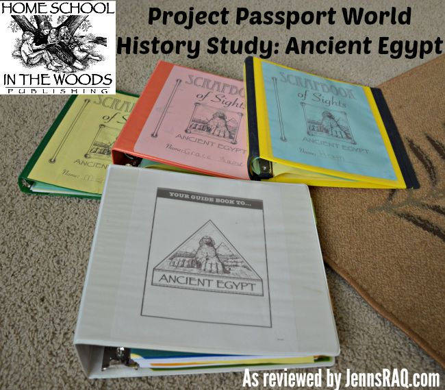 Home School in the Woods Project Passport World History Study: Ancient Egypt Review from JennsRAQ.com