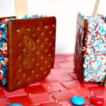 Patriotic Ice Cream Sandwich Dessert