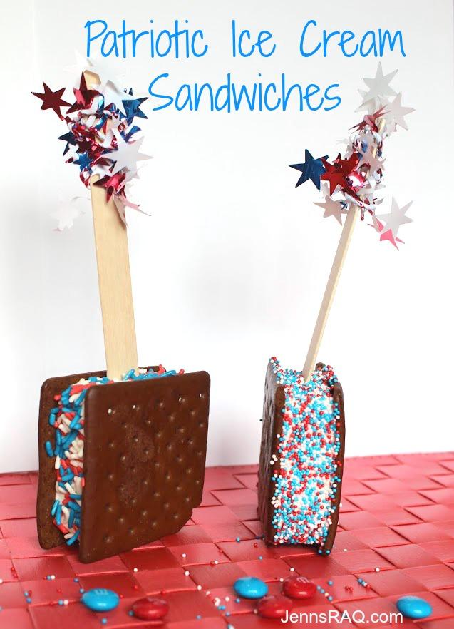 Patriotic Ice Cream Sandwiches from JennsRAQ