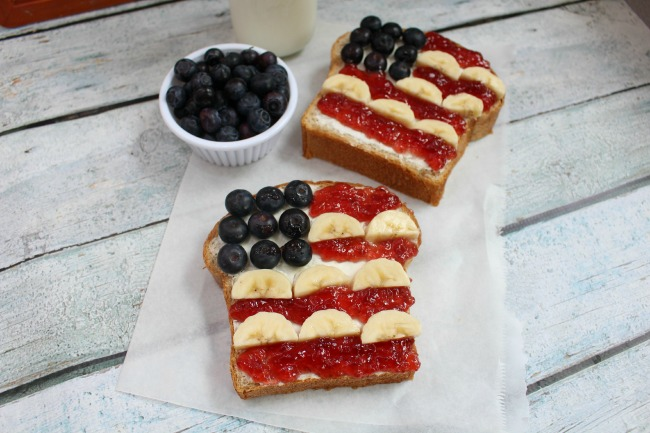 Patriotic Toast and Homemade Honey Wheat Bread Recipe from JennsRAQ.com