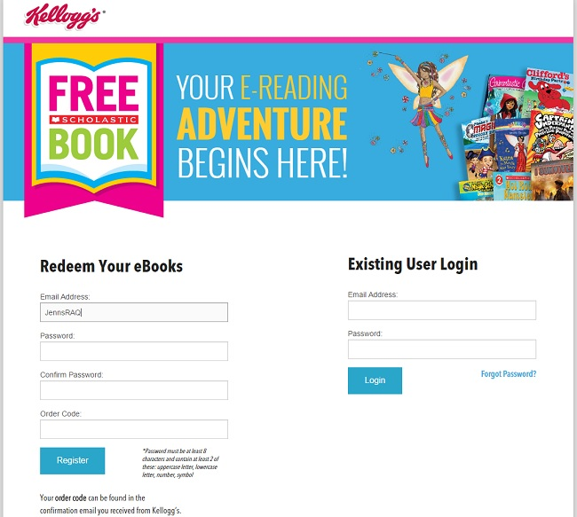 Build your library with free books from kelloggs real and quirky going to the scholastic site with your order code is easy and described in the email fandeluxe Gallery