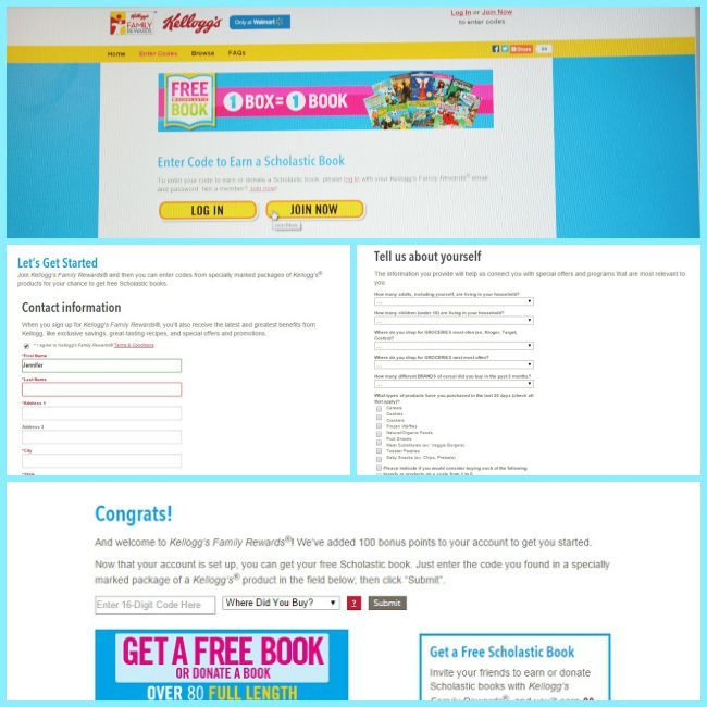 Signing up for Kellogg's Family Rewards is easy and then you can redeem your special codes for free books #Back2SchoolReady #Ad