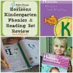 Horizons Kindergarten Phonics & Reading Set Review
