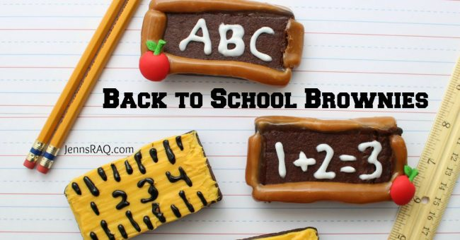 Back to School Brownies as seen on JennsRAQ.com FB