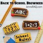 Back to School Brownies (semi-homemade)