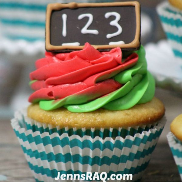 Back to School Chalkboard Cupcakes