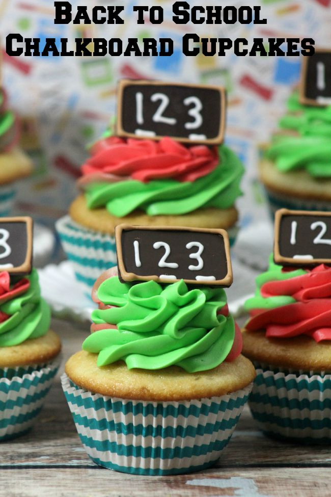 Back to School Chalkboard Cupcakes from JennsRAQ.com are fun