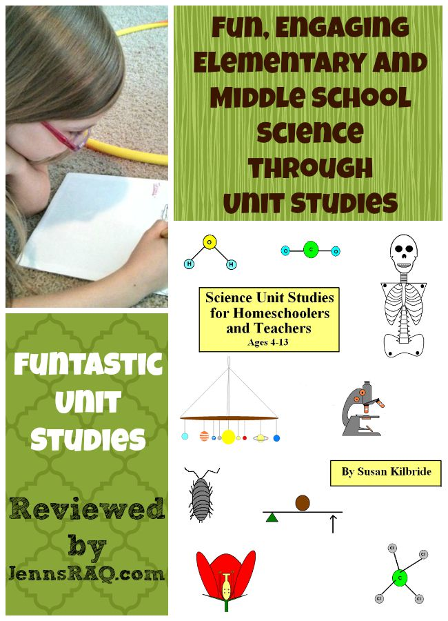 Funtastic Unit Studies Science Curriculum for Students aged 4-13 as reviewed by JennsRAQ.com