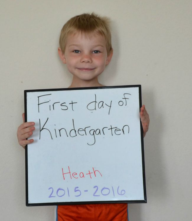 Heath First Day of Kindergarten