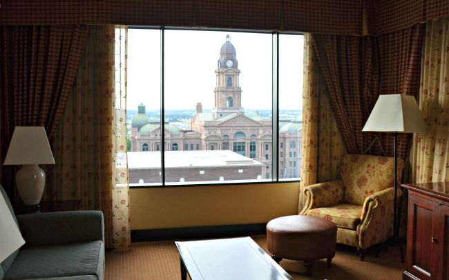 Historic Tarrant County Courthouse View at Renaissance Worthington Hotel in Fort Worth Texas as seen on jennsRAQ.com