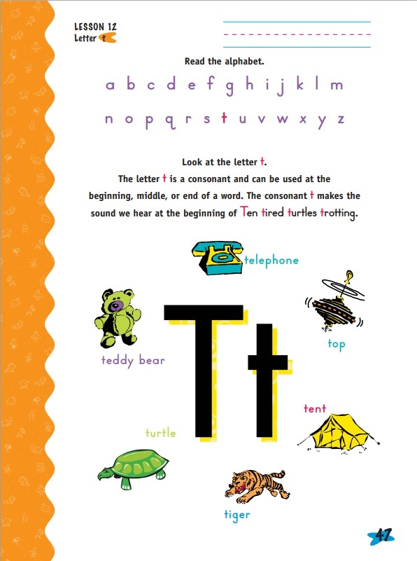 Horizons Kindergarted Phonics and Reading Set Workbook Sample as seen on JennsRAQ.com