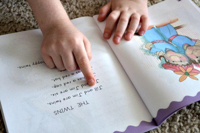 Horizons Kindergarten Phonics & Reading Set Reading Lesson Example as seen on JennsRAQ.com