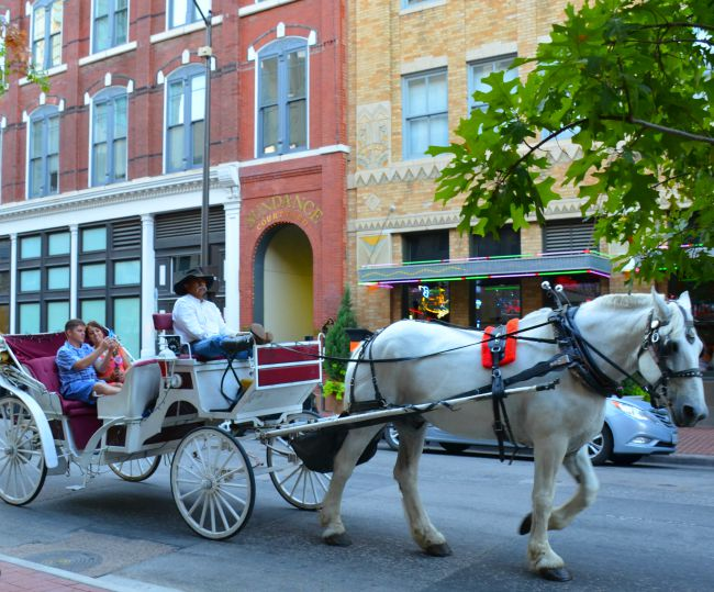 Sundance Square Horse Drawn Carriage as seen on JennsRAQ.com