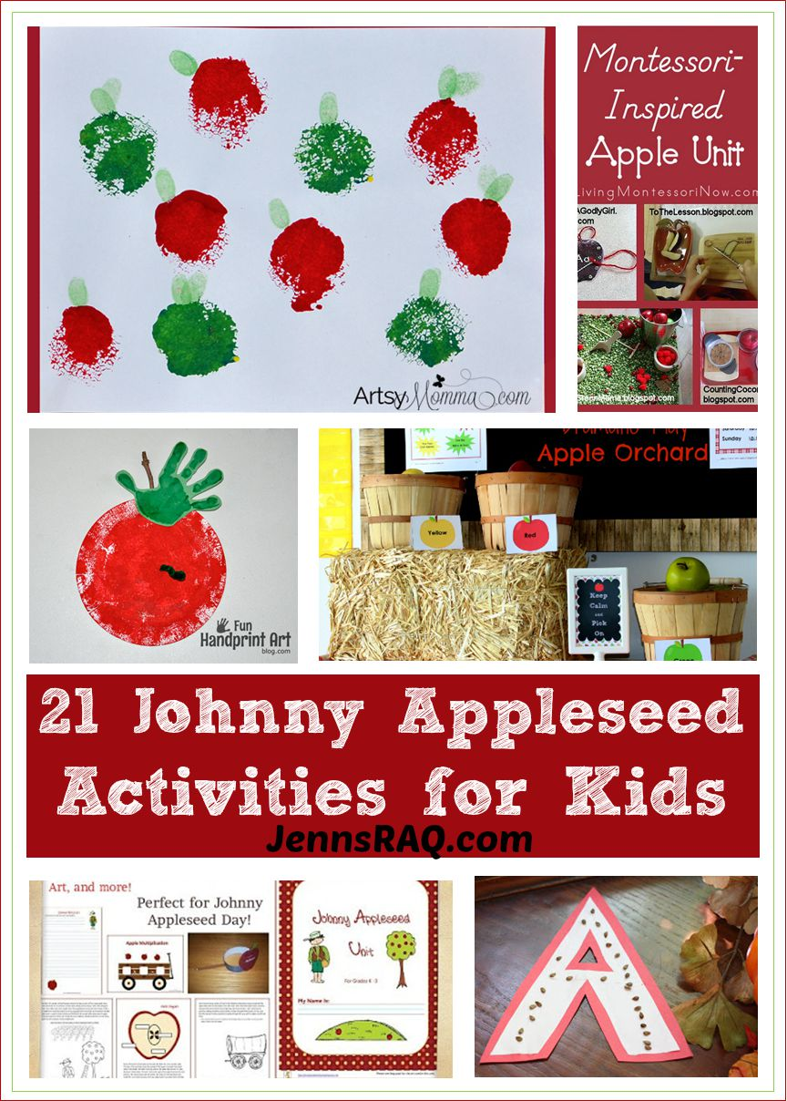 21 Johnny Appleseed Activities for Kids as seen on JennsRAQ.com