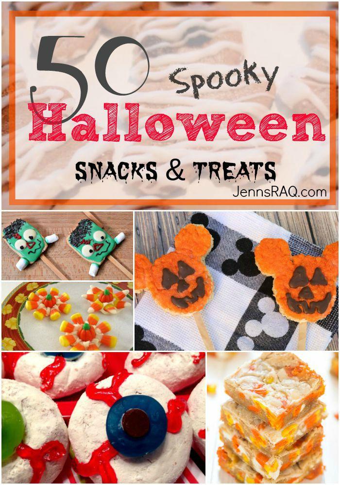 50 Spooky Halloween Snacks and Treats as seen on JennsRAQ.com