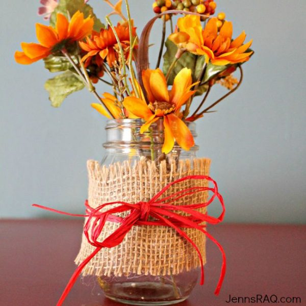 Easy DIY Mason Jar Vase Craft