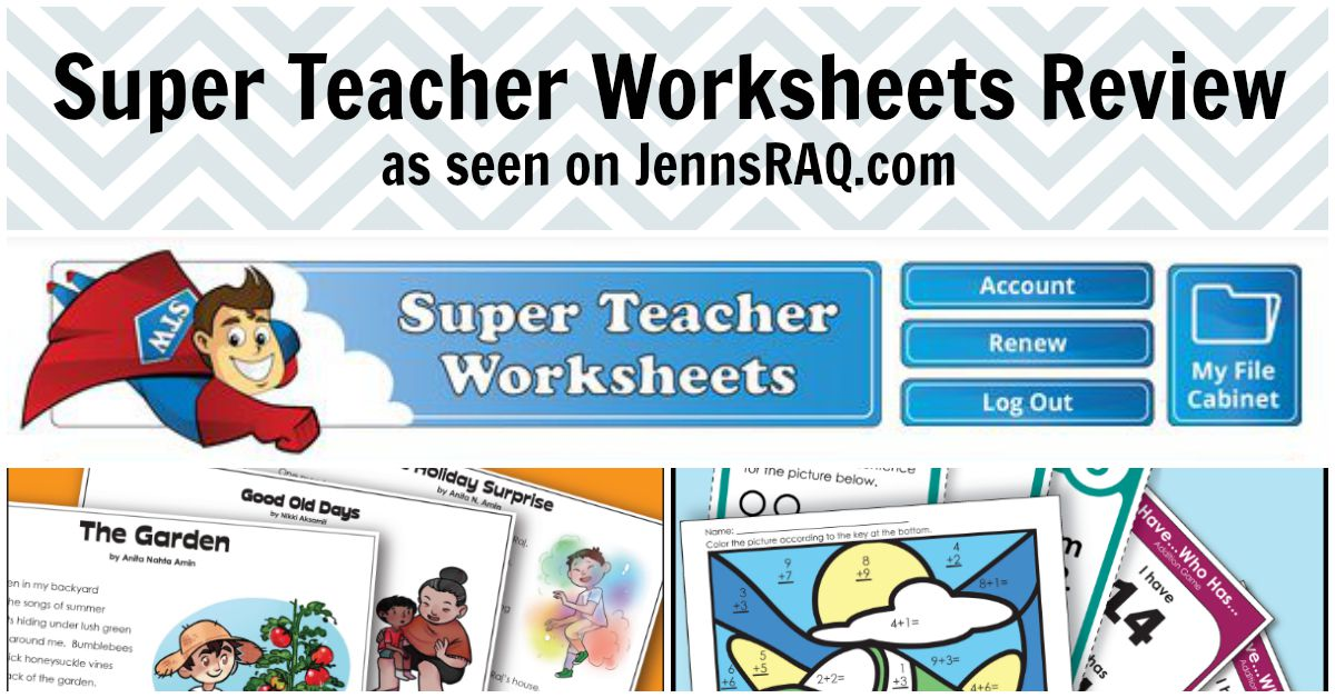 Super Teacher Worksheets Review- Real And Quirky