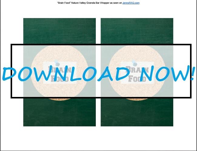 Brain Food Granola Bar Wrapper as seen on JennsRAQ.com #AStockUpSale #TomThumb