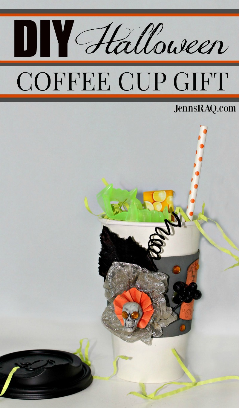 DIY Halloween Coffee Cup Gift from jennsRAQ.com
