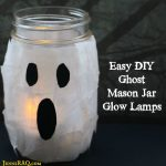 Ghost Mason Jar Glow Lamps {Easy DIY}