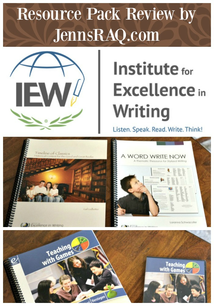 Institute for Excellence in Writing Resource Package