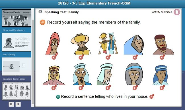 Middlebury Interactive French 1 Speaking Test as seen on JennsRAQ