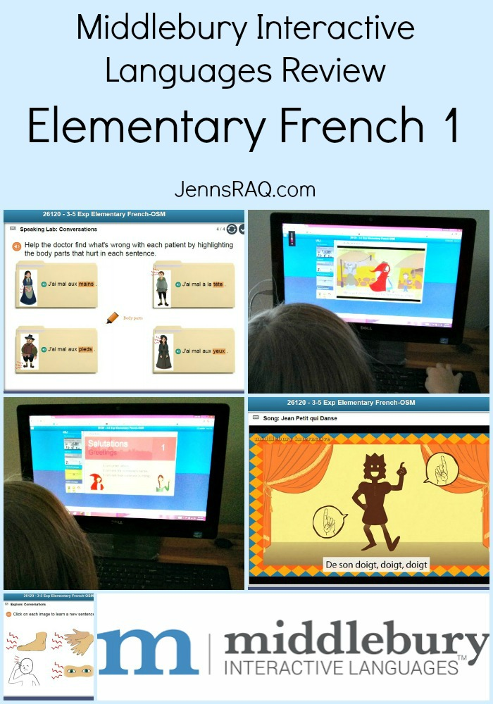 Middlebury Interactive Languages - Elementary French 1 Online Course as seen on JennsRAQ Pin