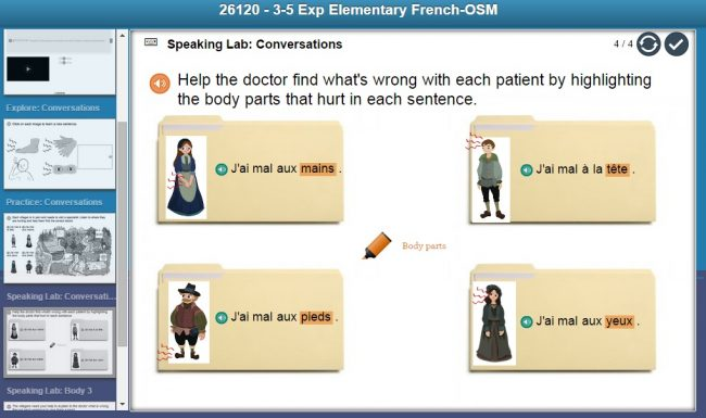 Middlebury Interactive French 1 for Grades 3-5 as seen on JennsRAQ