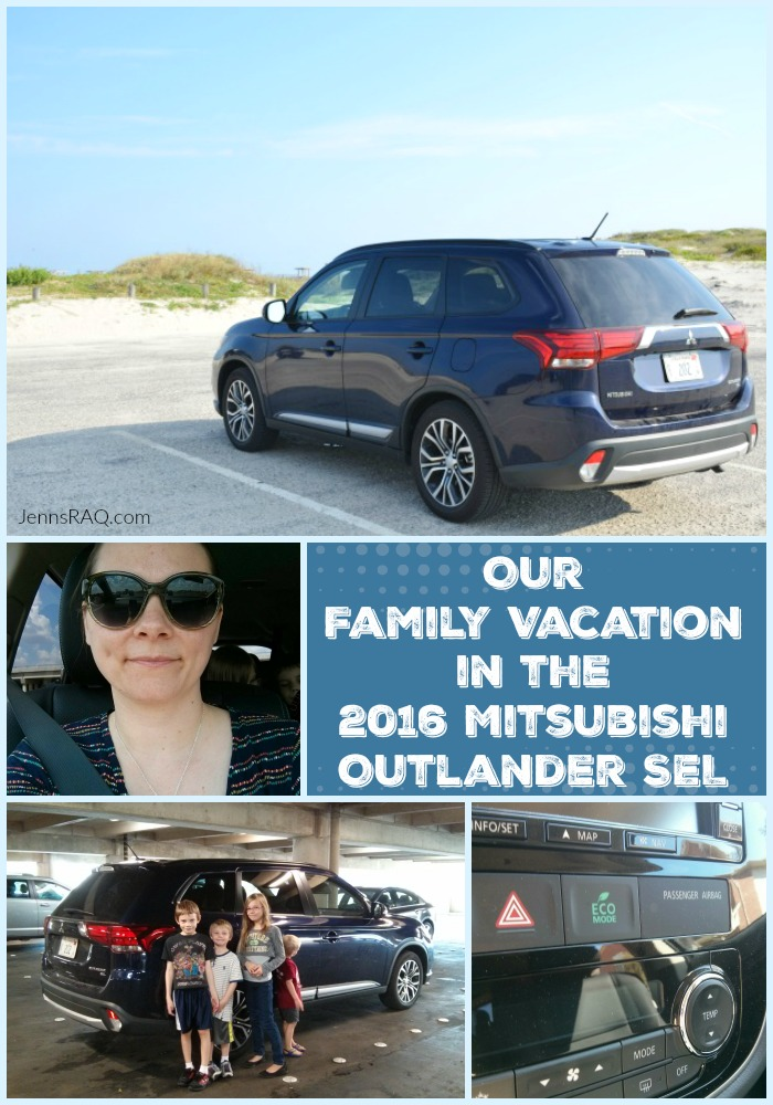 Our Family Vacation in the 2016 Mitsubishi Outlander SEL as seen on JennsRAQ.com