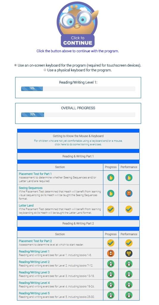 Reading Kingdom Progress as seen on JennsRAQ