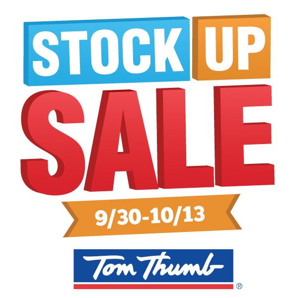 Tom Thumb Stock Up Sale #AStockUpSale #TomThumb AD As seen on JennsRAQ.com