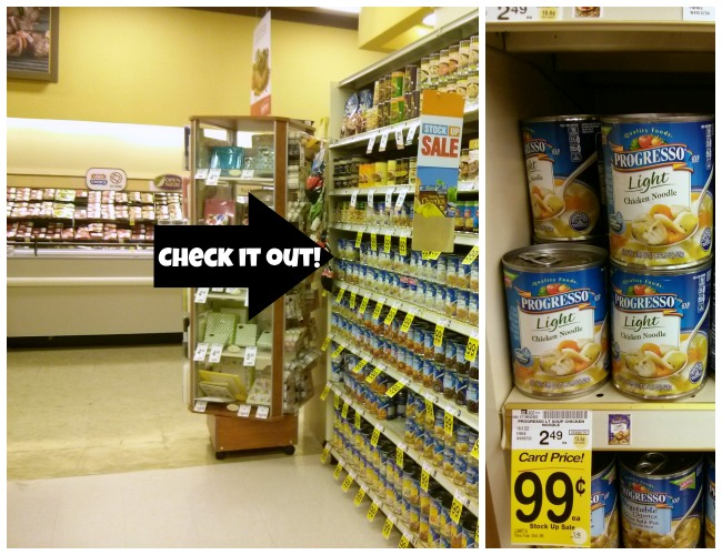 Tom Thumb Stock Up Sale on Profresso Light Chicken Noodle Soup #AStockUpSale #YourStore Ad as seen on JennsRAQ.com
