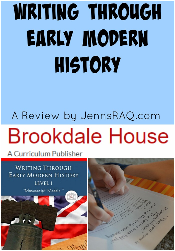 Writing Through Early Modern History - Brookdale House - A Review by JennsRAQ.com