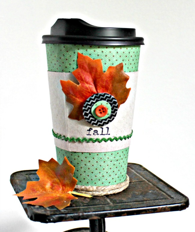 DIY Fall Coffee Cup Gift as seen on JennsRAQ.com