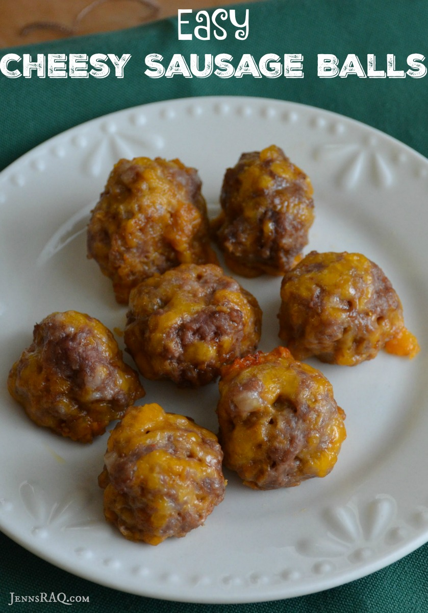 Easy Cheesy Sausage Balls - As seen on JennsRAQ.com #NaturallyCheesy #Ad