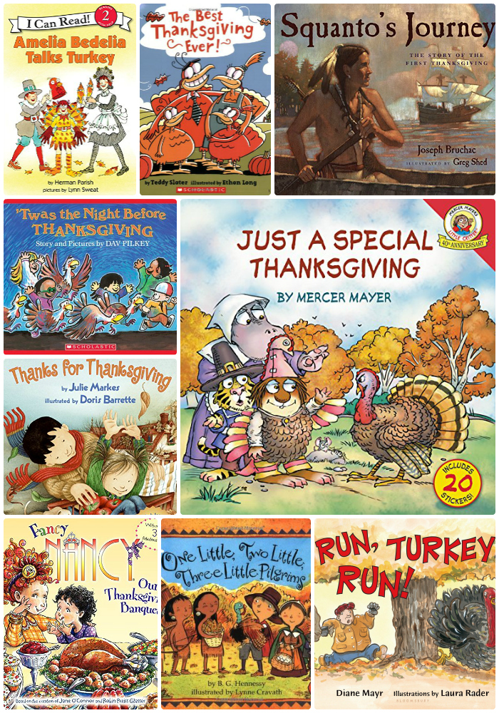 30 Thanksgiving Books for Kids as seen on JennsRAQ.com