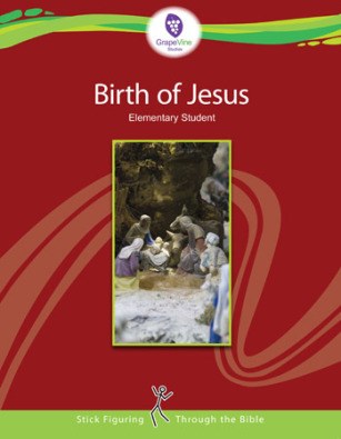 The Birth of Jesus from Grapevine Studies as seen on JennsRAQ.com - Stick Figure Lessons on the Bible