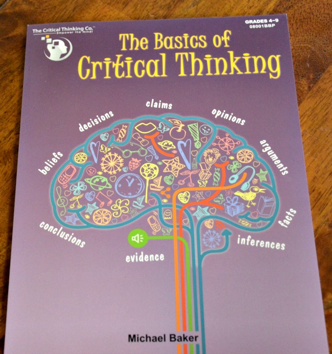 The Basics of Critical Thinking by Michael Baker and The Critical Thinking Co. as seen on JennsRAQ.com